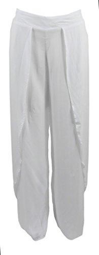 Elan International Pants with Wrap Waist in White, Large