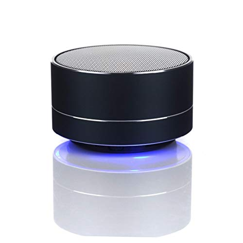 AGT Portable Bluetooth Black Color Speaker Use for Camping, Hiking, Biking, Gaming, Beach Party