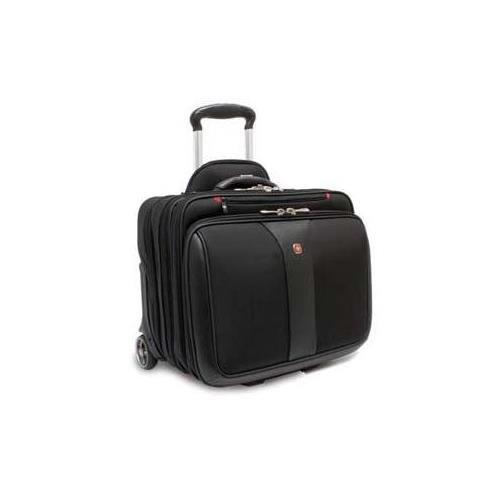 Blk Rolling Laptop Case (Generic TRG WA-7953-02F00 SWISSGEAR PATRIOT ROLLING CASE BLK 17IN LATPOP WITH NOTEBOOK CASE)