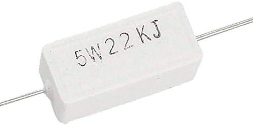 VERTICAL 5,6k Ohm 5w ± 5/% royal 5pcs ax5wv-5k6 Resistance Wire Concrete THT