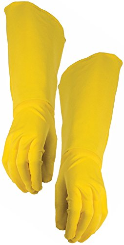 [Adult Super Hero Yellow Gauntlets Gloves Men Women Cosplay Costume Accessory] (Hero Costumes For Men)