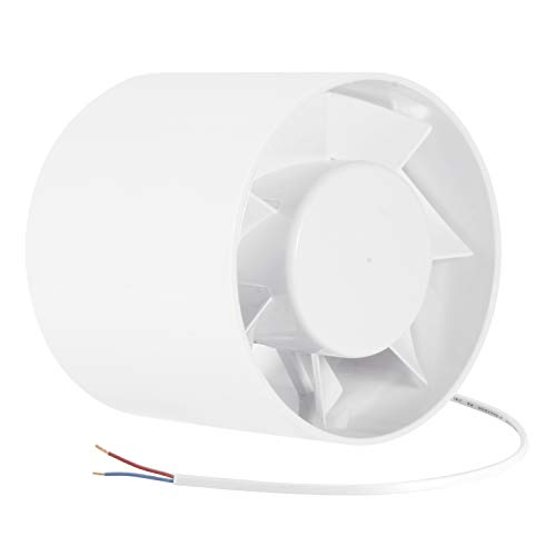 HG POWER Silent ABS Inline Booster Duct Fan Axial Fan, Intake & Exhaust Inline Ventilation Fans for House in Hose, Tent, Ducting (5inch)