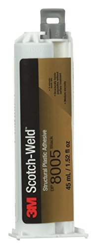 (3M Scotch-Weld Structural Plastic Adhesive DP8005 Black, 45 mL Duo-Pak)