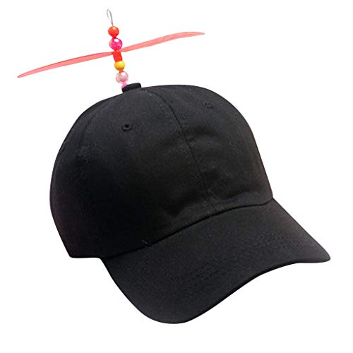 Gallity Funny Baseball Hat Beanie Hat,Classic Rainbow Propeller Spinner Hat for Adult and Kids, Multicolor Optional (Black)]()