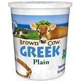 Brown Cow Plain Smooth and Creamy Non GMO Greek Yogurt, 32 Ounce -- 6 per case.