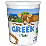 Brown Cow Plain Smooth and Creamy Non GMO Greek Yo...