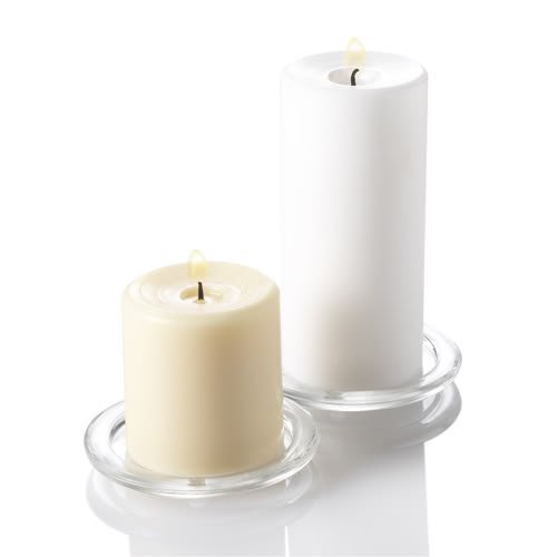 Eastland Round Glass Pillar Candle Holder Set of 36 by Eastland