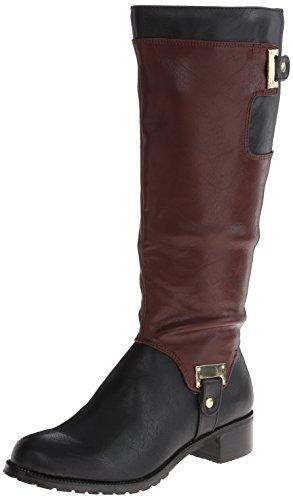 Bella Vita Anya II Plus Tall Boot - Black/Mahogany 8.5 WW, B