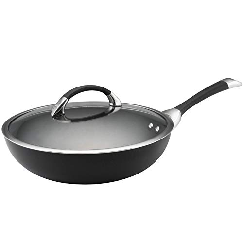 Circulon Symmetry Hard-Anodized Nonstick Covered Essential Pan, 12–Inch, Black ()