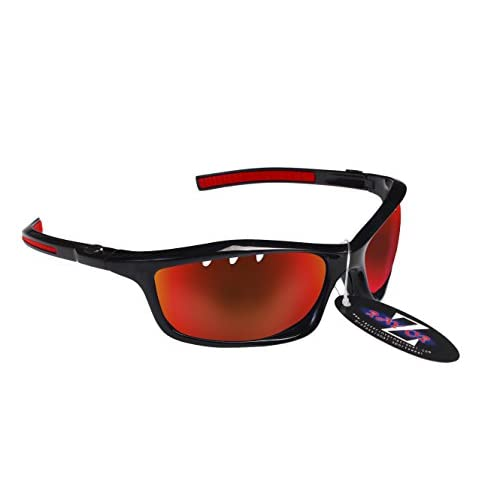 RayZor Lunettes de sport Lunettes de soleil, avec un objectif Miroir Rouge en iridium anti-reflets