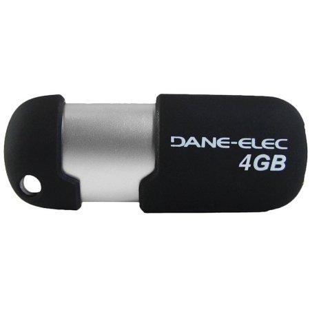 Elec Usb Dane Drive 4gb - DEMDAZMP04G3R - DANE-ELEC DA-ZMP-04G-CA-R3-R Capless USB Pen Drive (4GB; Red)
