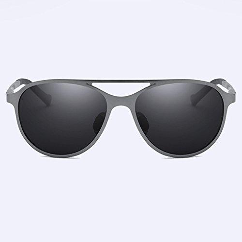 polarizadas sol libre aluminio anti y sol de UV fish Hombres conducción Lentes UV aire Gafas protección magnesio al gafas de de de gray 400 HqtqBOE8n