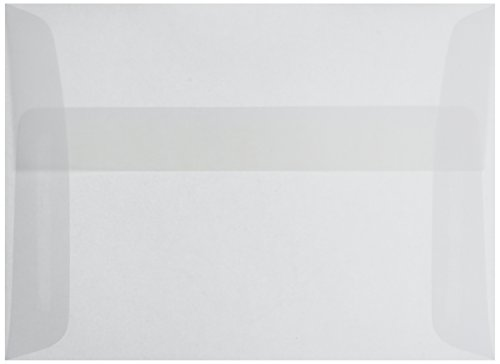 Leader Paper Products A6V A6 Parchlucent Vellum Envelope, 4.75 by 6.5-Inch, Clear, 25/Pack
