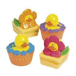 12 ct - Spring Flower Rubber Duck Ducky Duckies - Daisy Duck Baby Shower