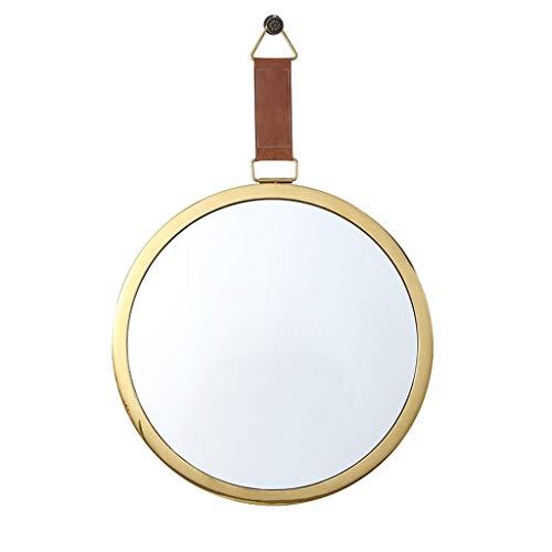WENWEN Mirror Round Wall Mount Mirror Metal Frame HD Stainless Steel Mirror -