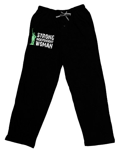 TOOLOUD Statue of Liberty Strong Woman Dark Adult Lounge Pants - Black- XL -