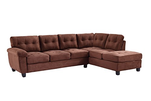 Glory Furniture G902B-SC Sectional Sofa, Chocolate, 2 boxes