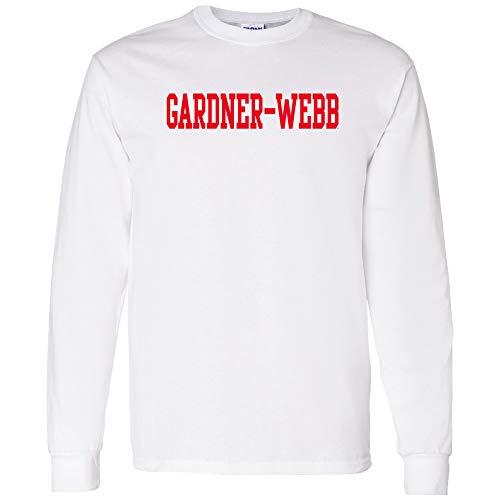 AL01 - Gardner-Webb Bulldogs Basic Block Long Sleeve - Small - White