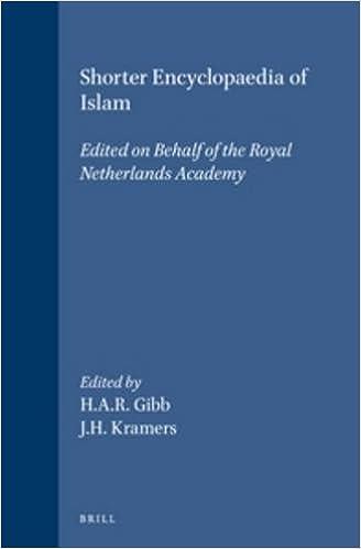 Shorter Encyclopaedia of Islam: Edited on Behalf of the