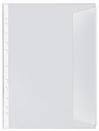 Veloflex 5340000 Dokumentenhüllen DIN A4, aus PP 130my, 10er SB-Packung, dokumentenecht, transparent farblos