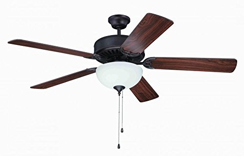 52' Builder Fan Collection - Craftmade K11101 Ceiling Fan Motor with Blades Included, 52