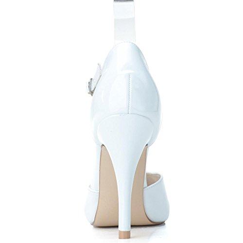 L@YC Frauen Hochzeitsschuhe # 0255-26 Spitze / PU High Heels Buckle Kunstleder / Plattform / & Nacht Red