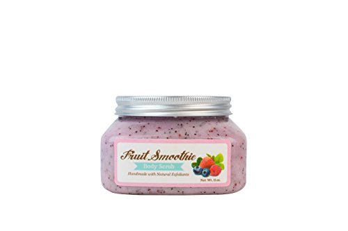 Fruit Smoothie Handmade Body Scrub - Natural exfoliants of sugar, blueberry seeds and cranberry - Scrub Cranberry Body