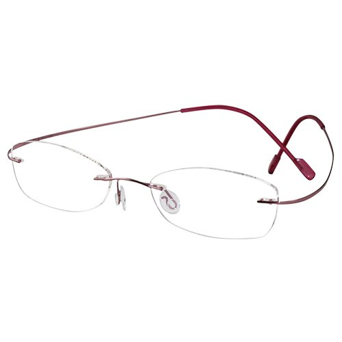 EyeBuyExpress Oval Pink Titanium Rimless Reading Glasses Magnification Strength - Prescription Custom Made Glasses