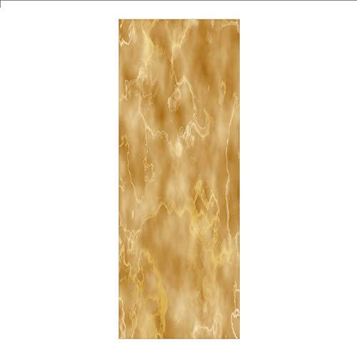 - 3D Decorative Film Privacy Window Film No Glue,Marble,Cloudy Granite Natural Crystal Rock Formation Motif Earthen Tones Print,Light Coffee and Brown,for Home&Office