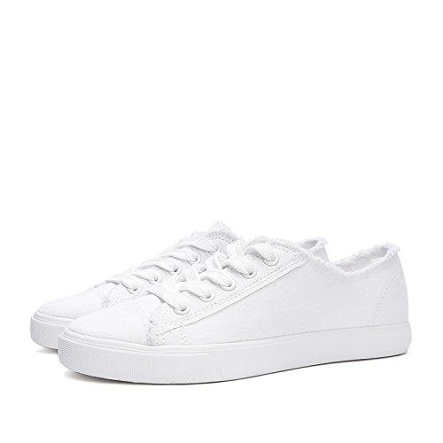 38 Primavera Señora Cabeza Deep De Planos Beauty Front Redonda Dhg Zapatos Cute blanco Ribbon Sweet White pZ1TEq