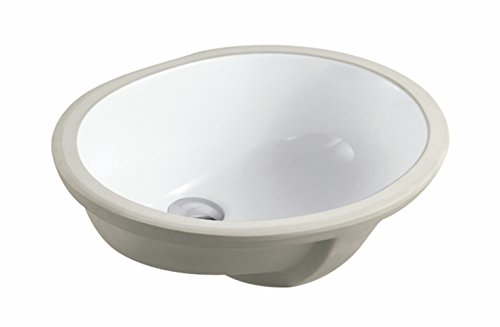 19.5 Inch Oval Undermount Vitreous Ceramic Lavatory Vanity Bathroom Sink Pure White