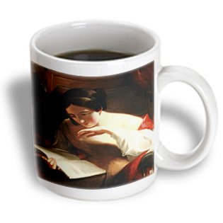 BLN Book and Reading Featured in Fine Art - Portrait of a Girl Reading, 1842 by Thomas Sully - 11oz Mug (mug_170978_1)