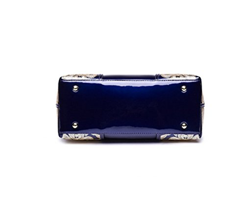 Winter Leather Darkblue Bag Banquet Paint Bags Autumn Evening And Portable Handbags t1xqwXX4