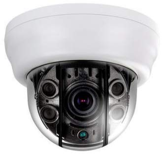 EYEMAX TDR 2544V-W HD-TVI 2 MP Camera, Anti-IR Reflection Indoor IR Dome Camera / 4 COB IR/AVF Lens/Dual Power, 2.8~12mm Auto-Iris Vari-Focal Lens. 12mm Varifocal Auto Iris