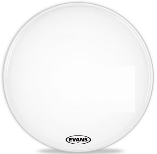 - Evans MX2 White Marching Bass Drum Head, 18 Inch