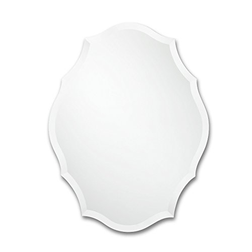 Frameless Mirror | Bathroom, Bedroom, Accent Mirror | Oval with Scalloped Edges