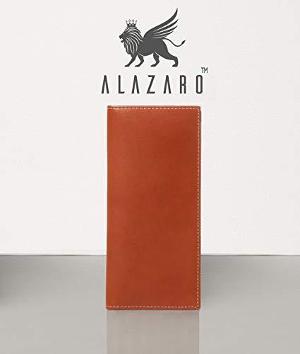 Alazaro Italia - Ambrosio - Vegetable Tanned Calf Leather - RFID Protection - Men and Women - Bi-fold Luxury Leather Wallet