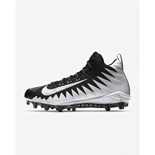 Nike Men s Alpha Menace Pro Mid Football Cleat White Metallic Silver Black  Size 11 M US 87ea7b14e