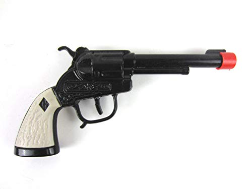 Big Game Toys~Black Cactus Pistol with Holster six Shooter Western Paper Roll Cap Toy Gun New