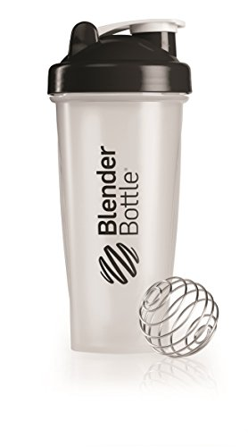 BlenderBottle Classic Shaker Bottle, Clear/Black, 28-Ounce