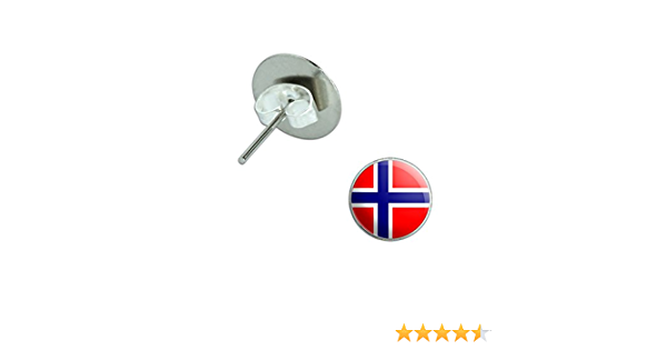 Silver Graphics and More Norway Norwegian Flag Square Cufflink Set