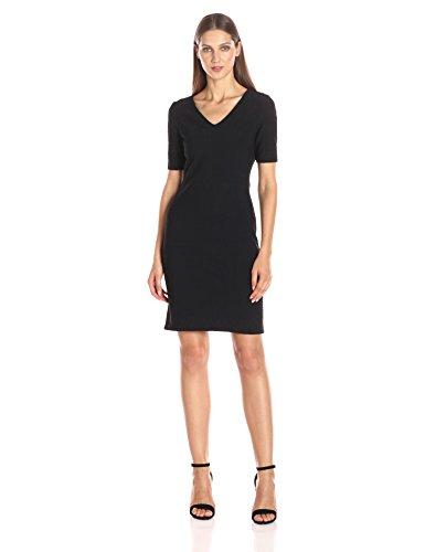 Julia Jordan Women's Short Sleeve Rio Knit Body Con Shift Dress, Black, 10