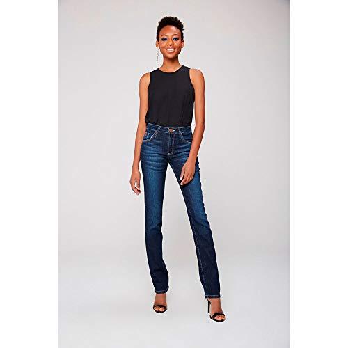 Calça Jeans Reta Básica Feminina Tam  42   Cor  BLUE eacfad3a701