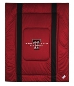 NCAA Texas Tech Red Raiders Sidelines Comforter, King, Bright Red by Sports Coverage