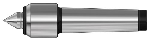 Röhm 5469 Type 600 Slim Tool Steel Revolving Tailstock Center with Small Casing Diameter, Morse Taper 4, Size 08, 20mm Point Diameter by Röhm