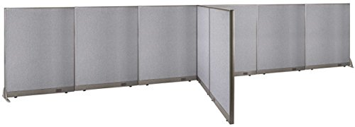 GOF T-Shaped Freestanding Partition 72d x 288w x 60h / Office, Room Divider by GOF