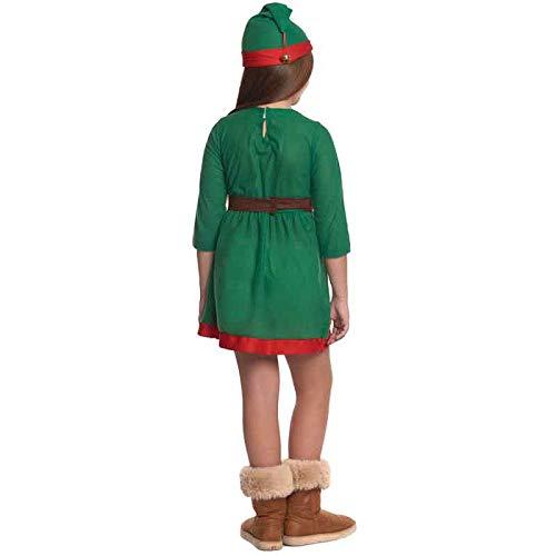 Disfraz de Elfa niña infantil para Navidad (4-6 años ...