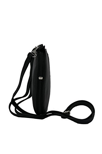 Shoulder Soft Genuine Long Includes Handbag Black Women Strap Bag Shaped Real For Heart Leather Crossbody Italian TgXH5awqx