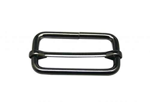 Generic Metal Gun Black Rectangle Buckle 1.25