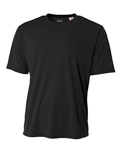 Mens Rash Guard Surf Swimwear Swim Shirt SPF Sun Protection Loose Fit Fitting Black by Hardcore Water Sports